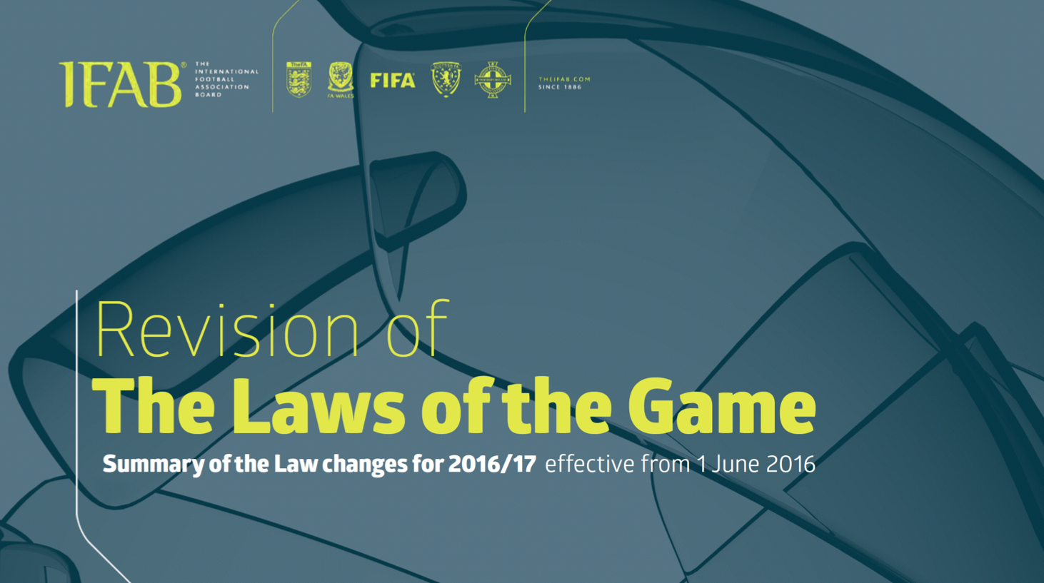 IFAB laws of the game changes 2016/2017